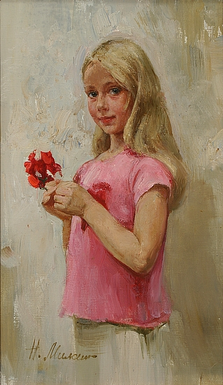 Girl With Flower (sm)